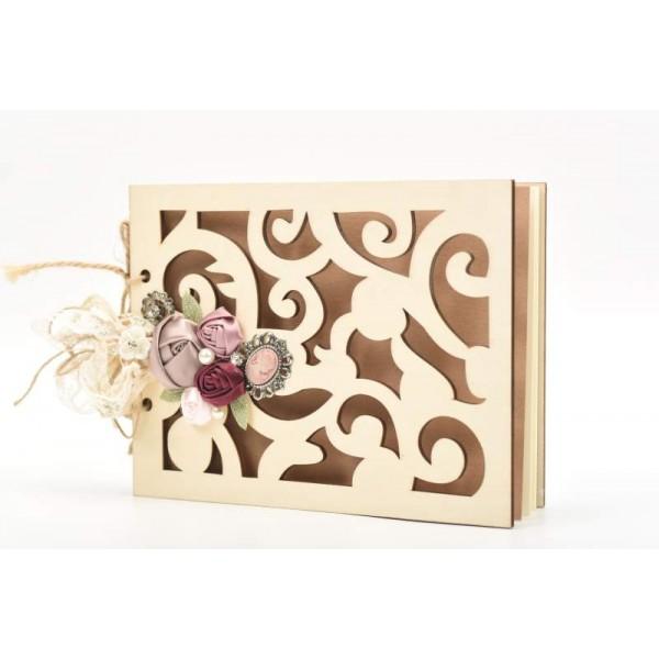 Βιβλίο Ευχών με ξύλινο εξώφυλλο